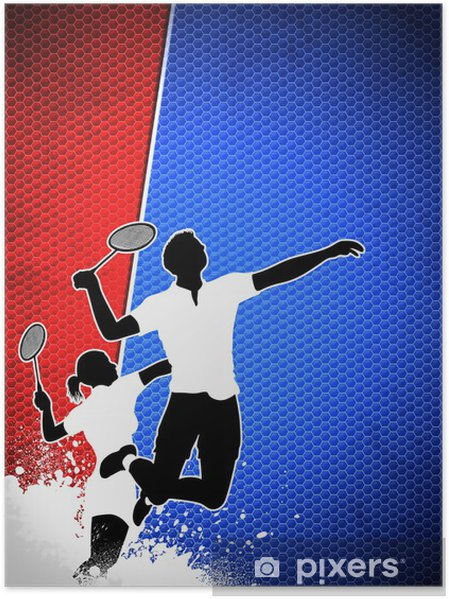 Badminton background Poster