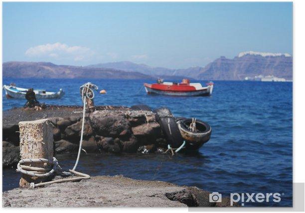 Poster Baia sulla Caldera, Santorini - Vacances