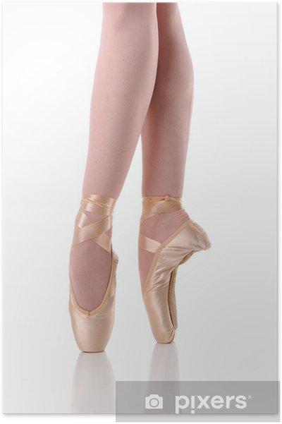 Poster Ballerine danse pieds sur la Pointe - Passe-temps et loisirs