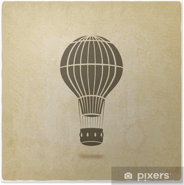 Poster Ballon à air chaud vieux fond - Dans les airs