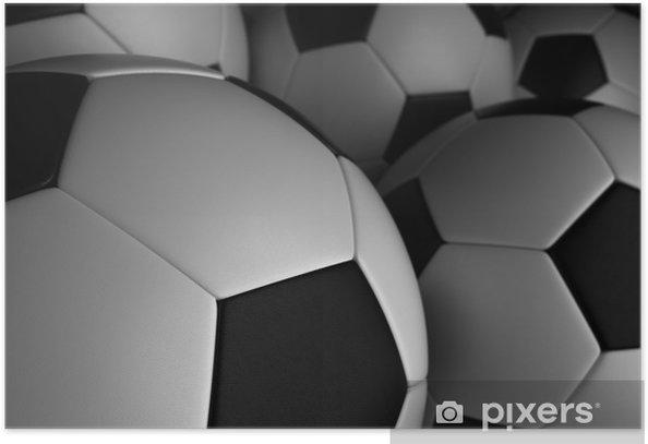 Poster Ballon de football - Arrière plans