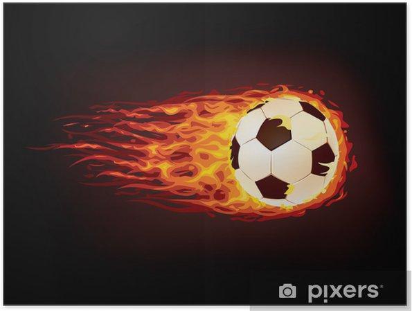 Poster Ballon football - Réussite