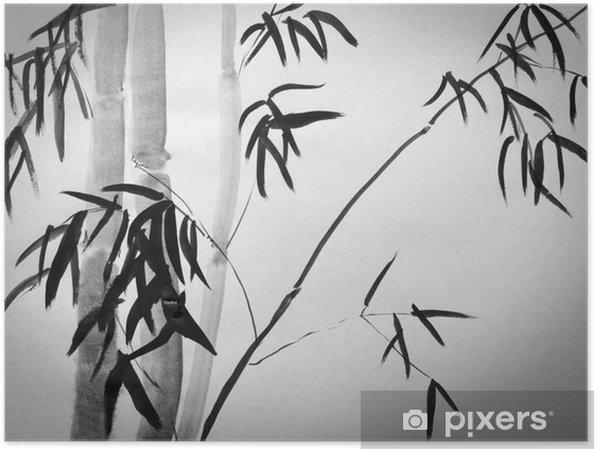 Poster Bamboe boom - Hobby's en Vrije tijd