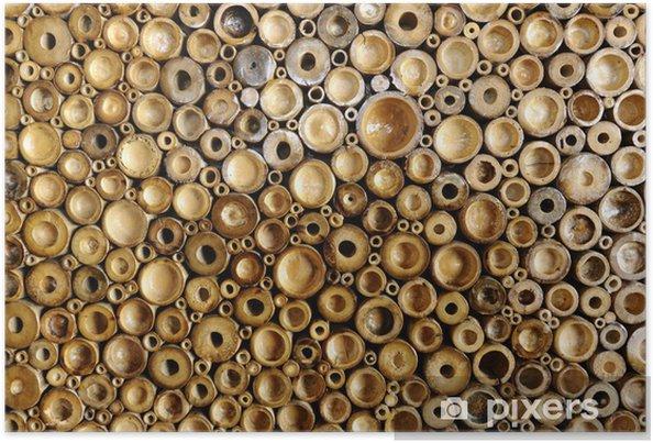 Poster Bamboe textuur - Texturen