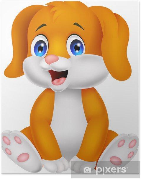 Poster Bande dessinée mignonne de chien de bébé - Mammifères