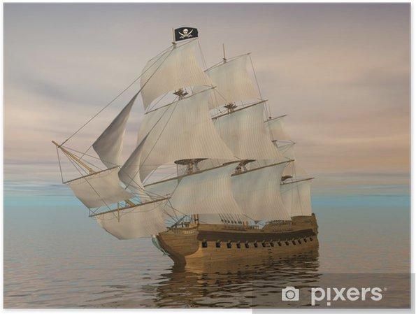 Póster Barco pirata - 3D render - Temas