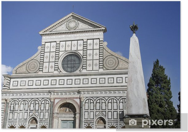 Poster Basilique de Santa Maria Novella à Florence, Toscane - Europe