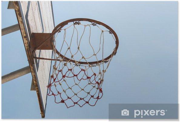 Poster Basketbal doel en net - Basketbal