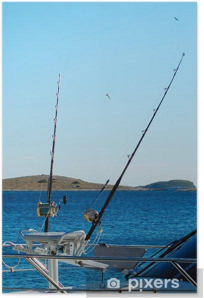 Poster Bateau de pêche sportive pour la pêche au gros - Vacances