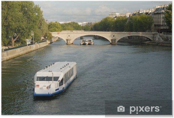 Póster Bateau mouche à Paris - Montañas