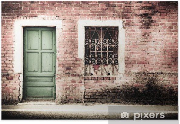 Poster Bâtiment abandonné - Propriétés privées