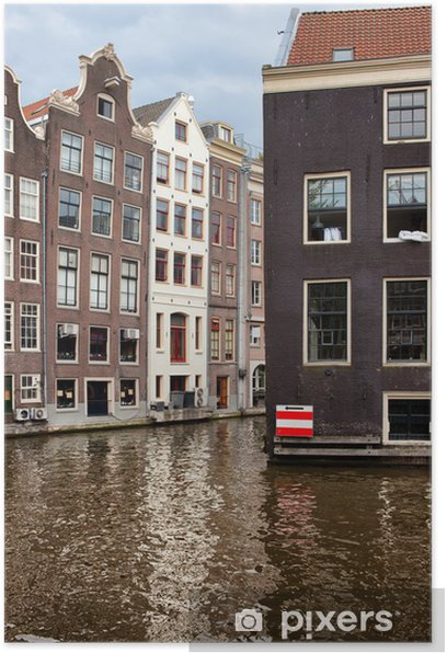 Poster Bâtiments Canal à Amsterdam - Europe