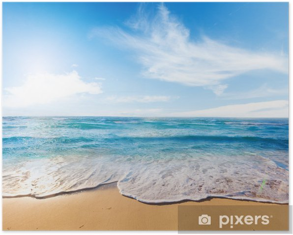 beach and sea Poster - Themes