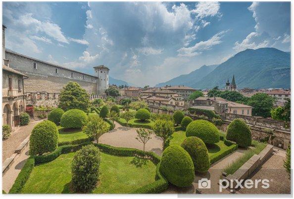 Poster Beau jardin italien d'en haut - Saisons