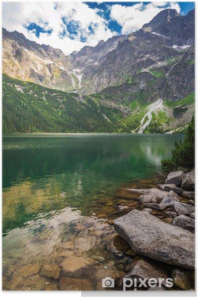 Poster Beau lac dans les montagnes Tatras - Saisons
