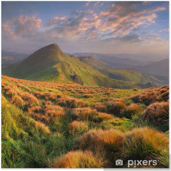 Poster Beau paysage d'été dans les montagnes. Sunrise - Saisons