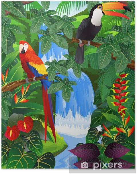 Beauiful tropical background Poster - Themes