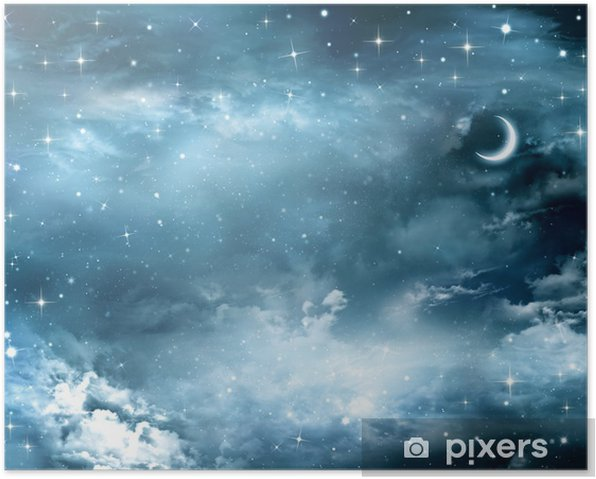 beautiful background, nightly sky Poster - Themes
