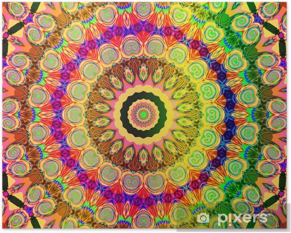 beautiful colored mandala Poster - Styles
