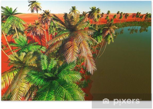 Beautiful Natural Background African Oasis Poster Pixers We