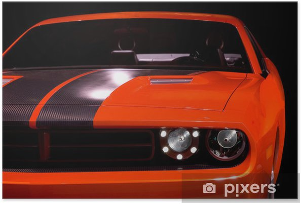 Poster Begrip muscle car - Thema's