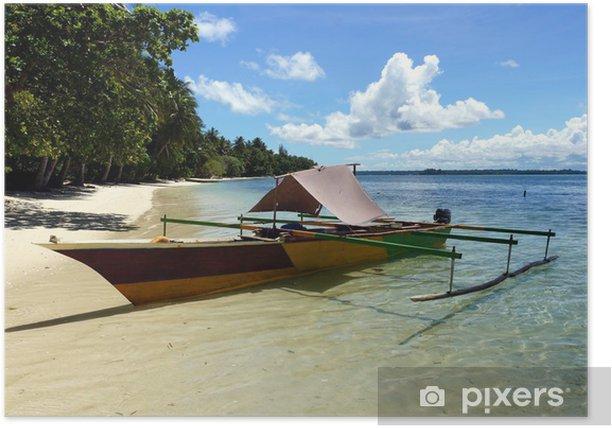Poster Bekijken op een eiland in Biak, Papoea, Indonesië - Azië