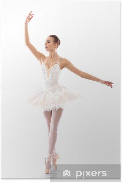 Poster Belle et magnifique ballerine dans ballete pose - Ballet