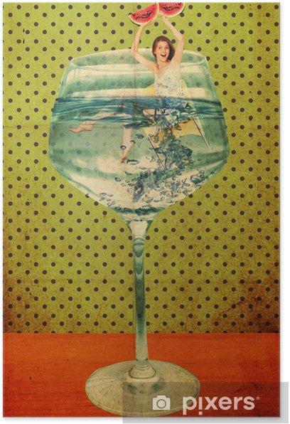Poster Belle femme en verre -