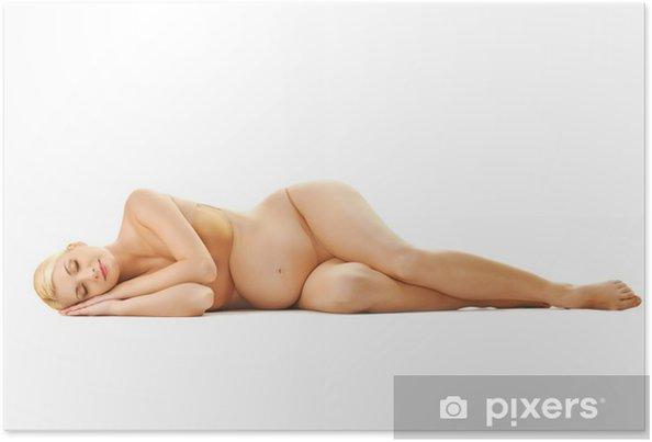 Poster Belle femme endormie enceinte - Vie de famille