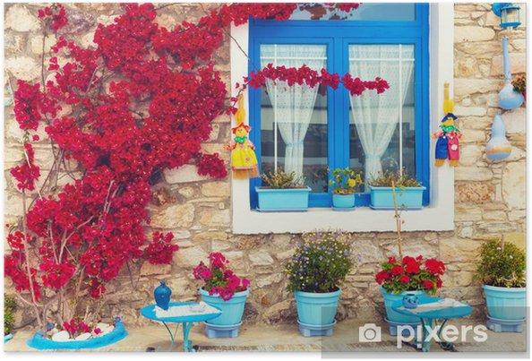 Poster Belle fin vers le haut d'une maison traditionnelle méditerranéenne. - Thèmes