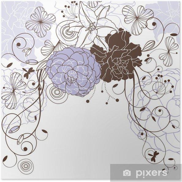 Poster Belle fond floral - Arrière plans