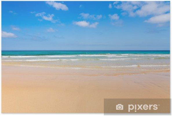 Poster Belle plage de l'océan - Saisons