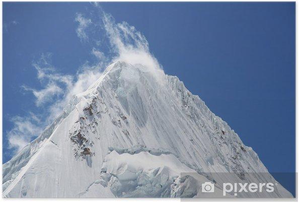 Poster Belle pointe Alpamayo - Montagne