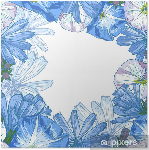 Poster Belle Seamless Floral Pattern - Concepts