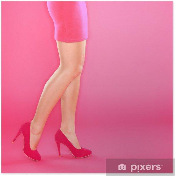 d1a9e5216e7 Poster Ben och rosa höga klackar skor • Pixers® - Vi lever för ...