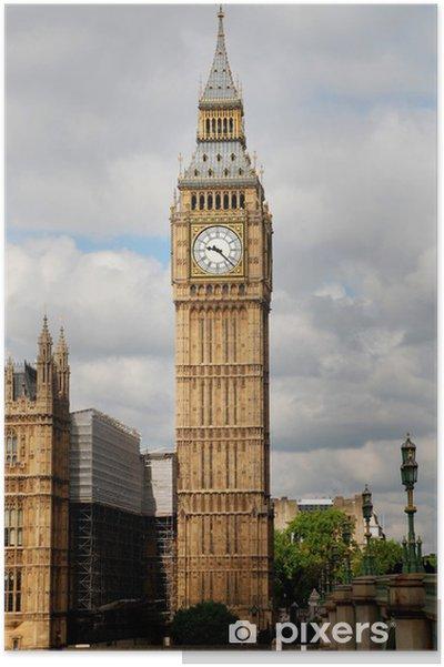 Big Ben Clock Tower Poster