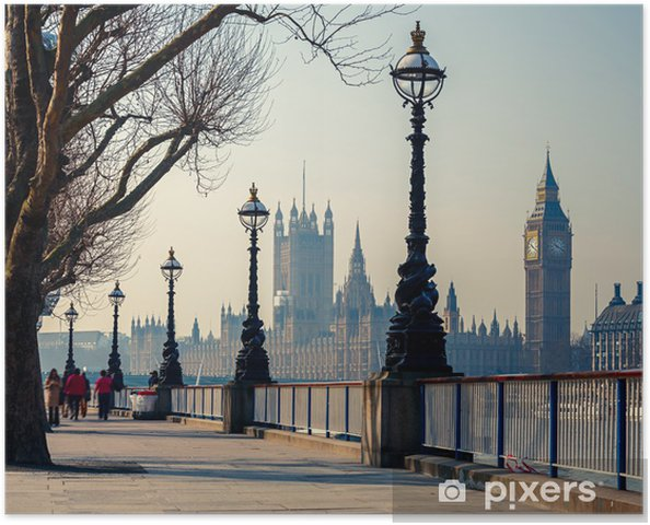 Póster Big Ben y las Casas del Parlamento, Londres - Temas