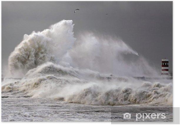 Big Waves Poster - Water