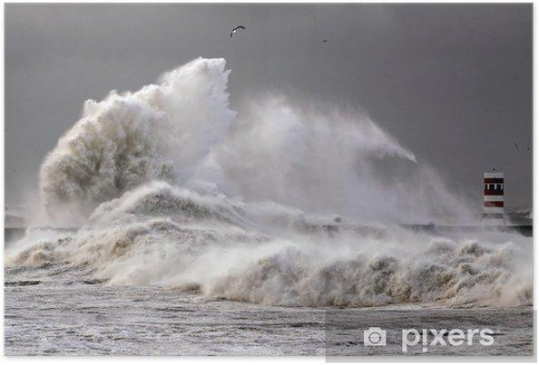 Poster Big Waves - Eau