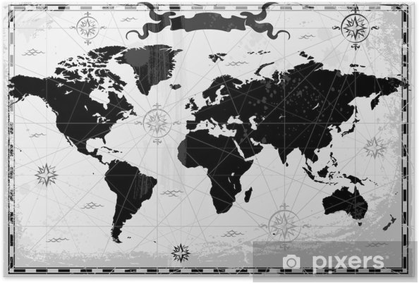 Black World Map Poster.Black Ancient World Map Poster Pixers We Live To Change