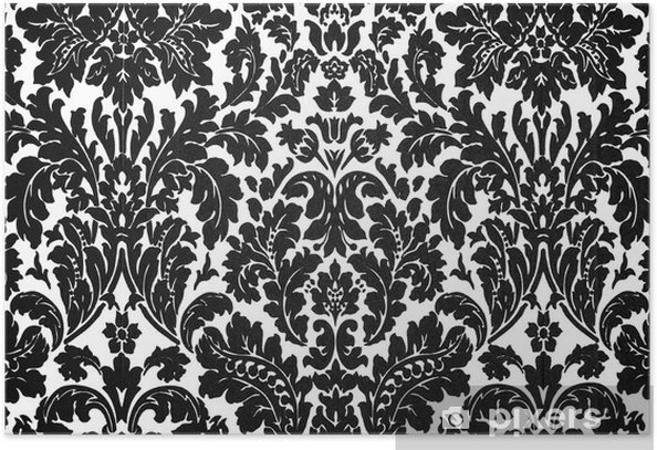 black and white baroque Poster - Styles