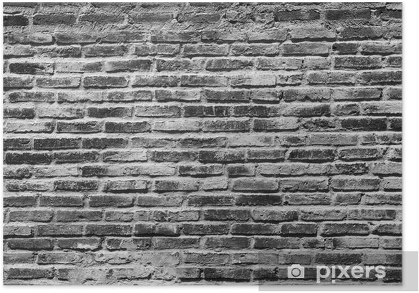 Black And White Brick Wall Background Poster Pixers We Live To Change