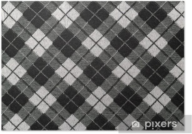 Black And White Checkered Fabric For Background Poster