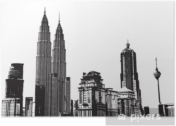 Black And White City Background Poster Styles