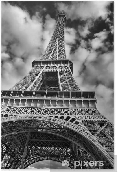 Black And White Picture Of The Eiffel Tower Poster Themes