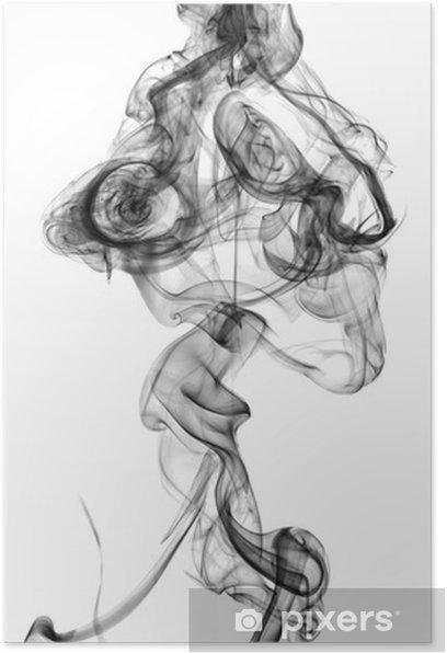black smoke isolated on white background Poster - Themes