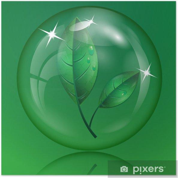 Poster Blad 2 - Planten