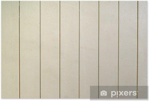 Poster Blanc clôture en bois - Arrière plans