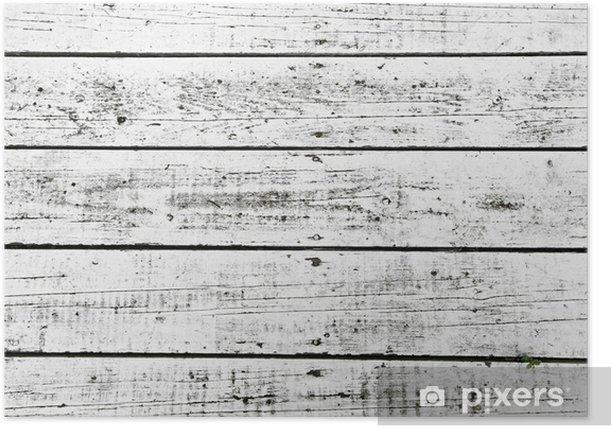 Poster Blanc lavé planches - Textures