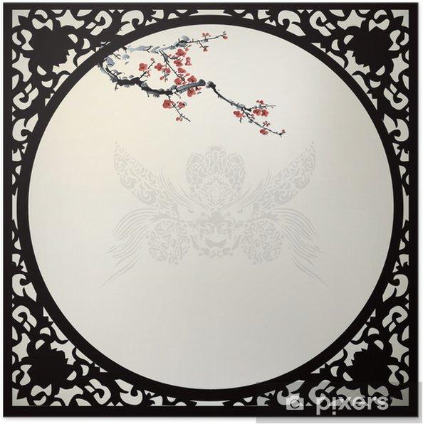 Póster Blanco chino - Árboles